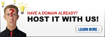 Have a Domain Already? Host It With Us!